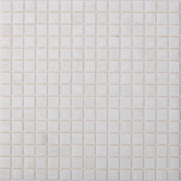 Glasmosaik Weiß Uni 2x2 cm   32,5x32,5 cm