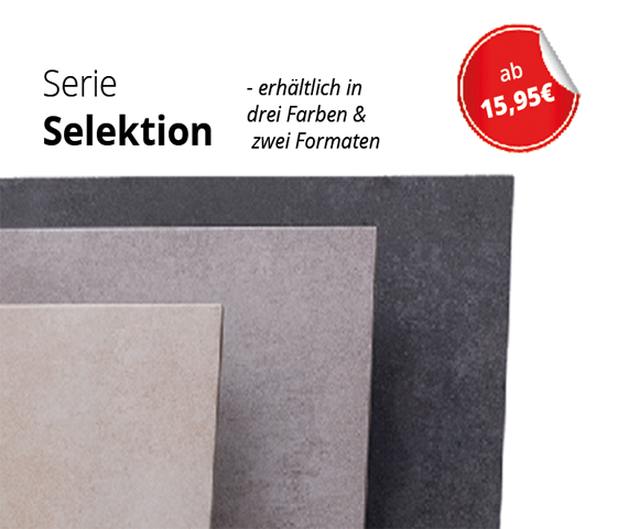 Bodenfliese Selektion ab 15,95€ inkl. MwSt. zzgl. Versand