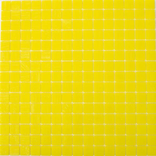 Glasmosaik Neon Gelb Uni 2x2 cm | 32,5x32,5 cm