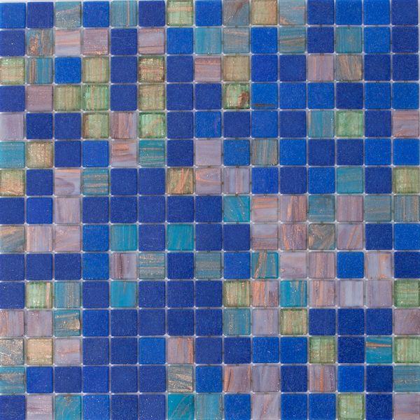 Glasmosaik Blau Türkis 2x2 cm | 31,5x31,5 cm