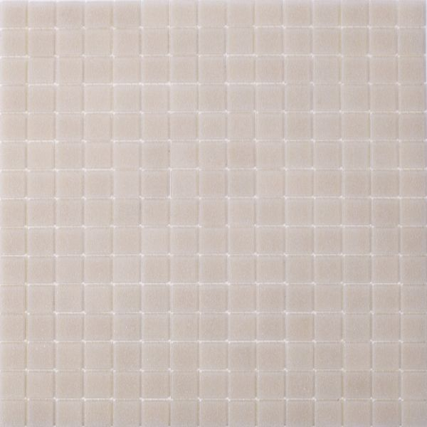 Glasmosaik Weiß Grau Uni 2x2 cm | 32,5x32,5 cm