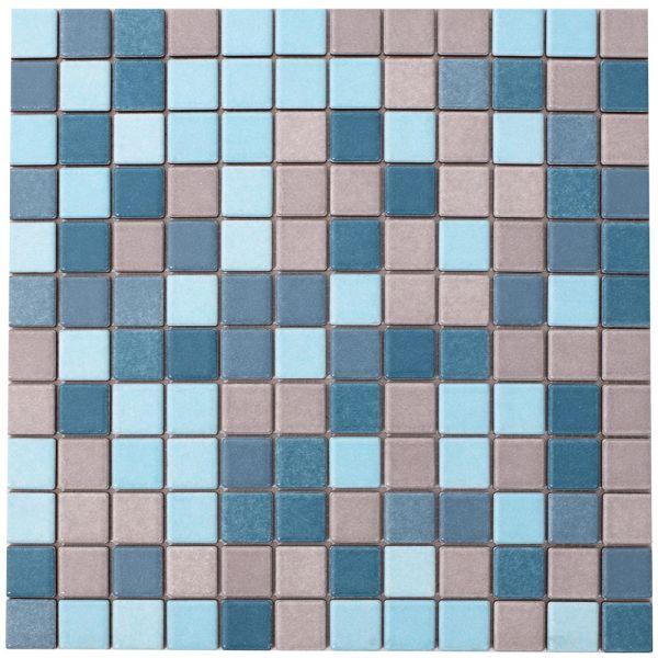 Mosaik Blau Grau 2,2x2,2 cm | 30x30 cm | Restposten