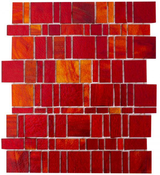 Glasmosaik Liberty Red 26,2x31,03 cm
