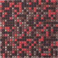 Mosaik Rot Braun Bronze 1,2x1,2 cm | 30x30 cm | Restposten